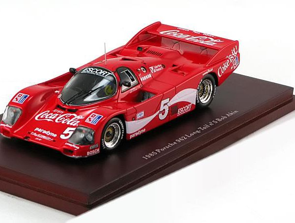 Porsche 962 Long Tail No.5 1985 Bob Atkin 1-43 Rood True Scale Miniatures