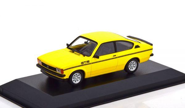 Opel Kadett C GT/E 1978 Geel / Zwart 1-43 Maxichamps