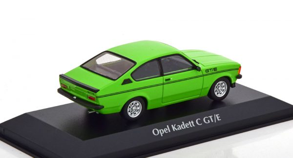 Opel Kadett C GT/E 1978 Groen / Zwart 1-43 Maxichamps