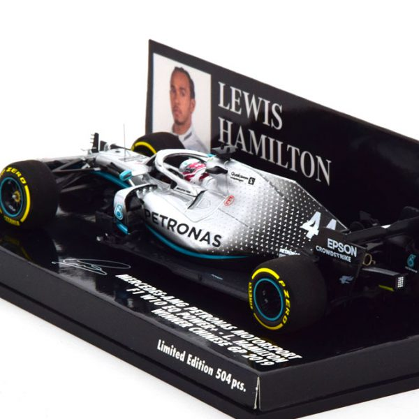 Mercedes AMG Petronas F1 W10 EQ Power+ Winner China GP 2019 L.Hamilton World Champion 1-43 Minichamps Limited 504 Pieces
