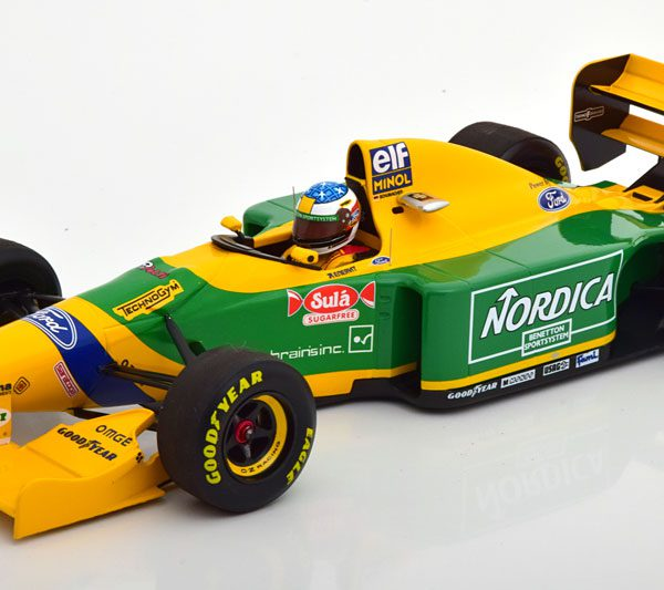 Benetton Ford B193 Winner GP Portugal 26th September 1993 M.Schumacher met Decals 1-18 Minichamps Limited 744 Pieces