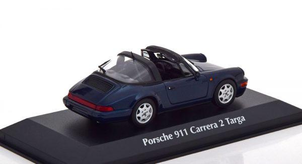 Porsche 911 (964) Carrera 2 Targa 1991 Donkergroen Metallic 1-43 Maxichamps