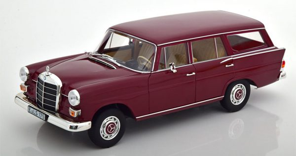 Mercedes-Benz 200 Universal 1966 Donkerrood 1-18 Norev