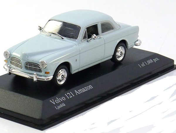 Volvo 121 Amazon 1966 Bright Blue 1-43 Minichamps Limited 1008 pcs.