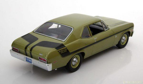 Chevrolet Nova LT/1 Yenko Deuce 1970 Groen / Zwart 1-18 GMP Limited 600 Pieces
