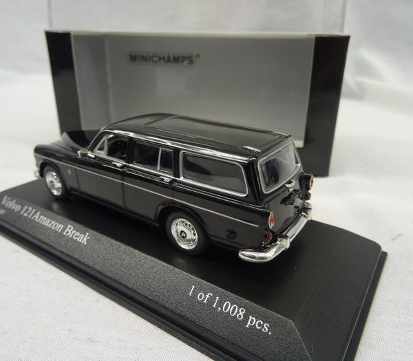 Volvo 121 Amazon Break 1966 Zwart 1-43 Minichamps Limited 1008 pcs.