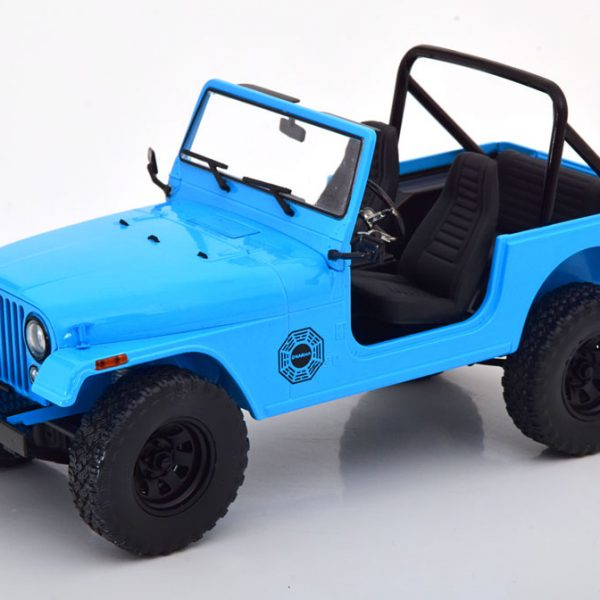 "Jeep CJ-7 1977 ""Lost TV Serie "" Blauw 1-18 Greenlight Collectibles"