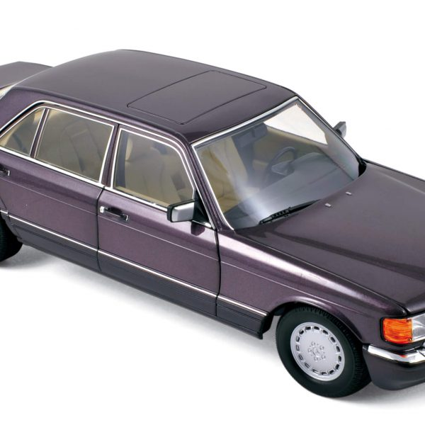Mercedes-Benz 560 SEL 1991 ( W126 ), Purple Metallic 1-18 Norev ( Zeldzaam )