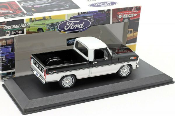 Ford F-100 Ranger 1970 XLT Pickup Truck Black & White 1/43 Greenlight Collectibles