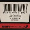 Ferrari F310 1996 Australian GP Michael Schumacher Rood 1-43 BBR Models Limited Edition