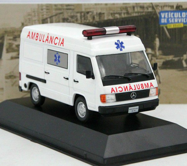 Mercedes-Benz MB180 Ambulancia Wit 1-43 Altaya