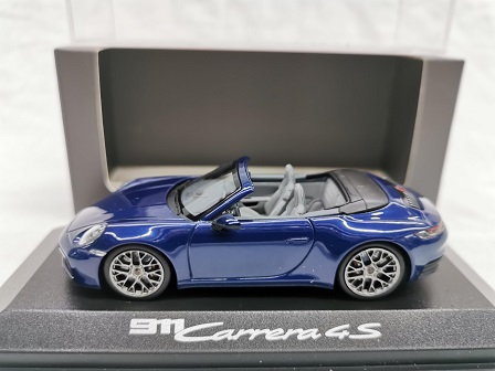 Porsche 911 Carrera 4S Cabriolet ( 992 ) Blauw Metallic 1-43 Minichamps