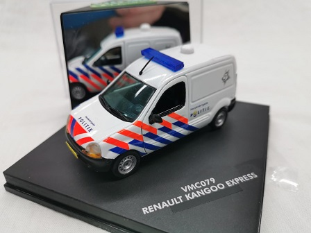 Renault Kangoo Express Honden Brigade Nederlandse Politie ( Oude Striping ) omgebouwd 1-43 Vitesse
