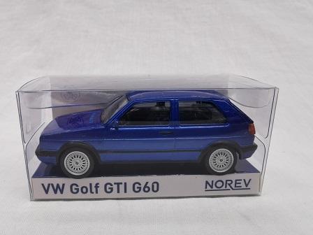 Volkswagen Golf II GTI G60 Blauw 1-43 Norev Jet Car