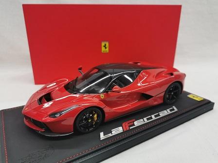"""Ferrari """"La Ferrari"""" 2013 Red / Carbon 1-18 BBR Models Limited 99 Pieces"""