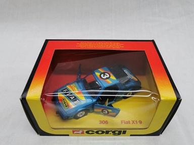 Fiat X1/9 Nr# 3 Blauw 1-36 Corgi ( zeldzaam )