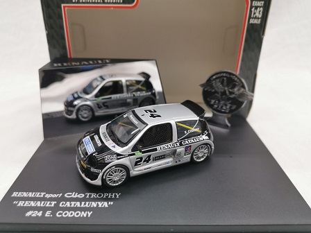 "Renault Sport Clio V6 Trophy 2000 #24 ""Renault Catalunya"" E.Codony Zwart / Zilver 1-43 Eagle's Race Collectibles"