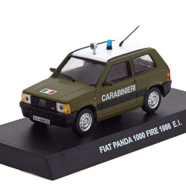 Fiat Panda 1000 Fire 1986 Carabinieri Groen 1-43 Altaya