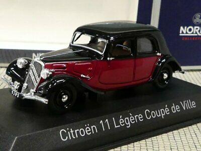 Citroen Traction 11 Légère Coupé de Ville 1935 Rood / Zwart 1-43 Norev