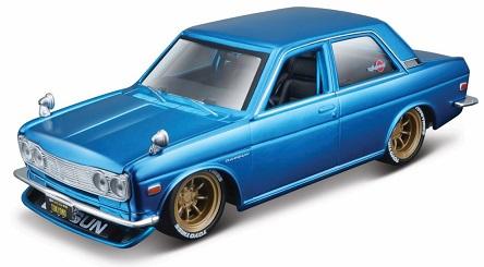 Datsun 510 1971 Blauw 1-24 Maisto