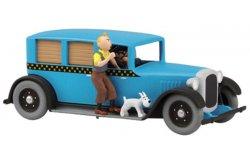"""Taxi American 1929 """"Kuifje"""" blauw 1-43 Atlas"""