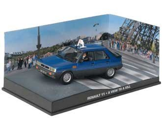 "Renault 11 James Bond ""A View To A Kill"" Blauw 1-43 Altaya James Bond 007 Collection"