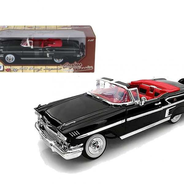 Chevrolet Impala 1958 Zwart 1-18 Motormax