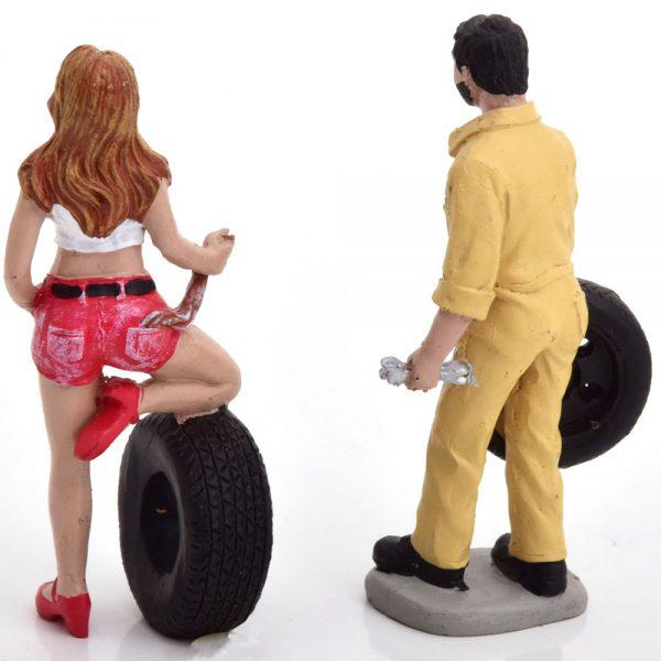 Tyre Brigade Set #1 Andie and Gery 1-18 ( Kunststof ) Motorhead Miniatures