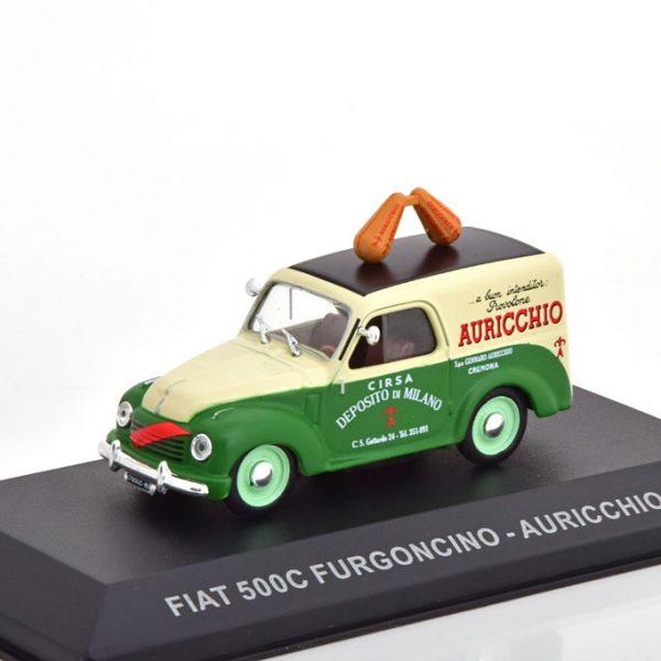 "Fiat 500 C Furgoncino ""Auricchio"" 1951 Groen / Beige 1-43 Altaya"