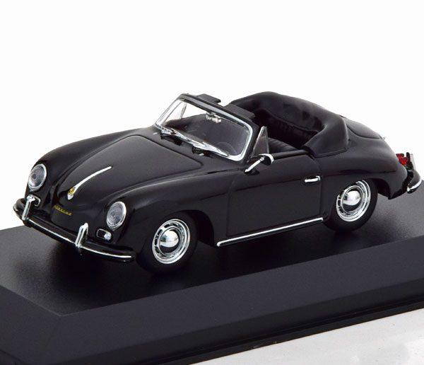 Porsche 356 A Cabrio 1956 Zwart 1-43 Maxichamps