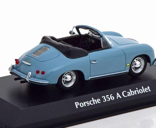 Porsche 356 A Cabrio 1956 Blauwgrijs 1-43 Maxichamps