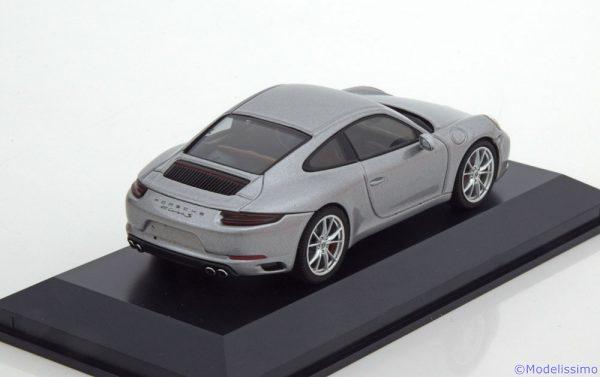 Porsche 911 (991/II) Carrera Coupe 2016 Zilver 1-43 Herpa