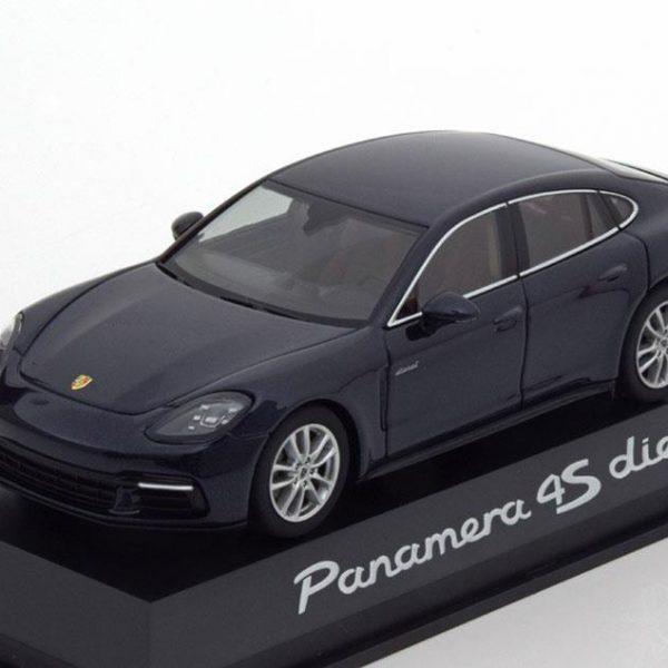 Porsche Panamera 4S Diesel 2016 Donkerblauw Metallic 1-43