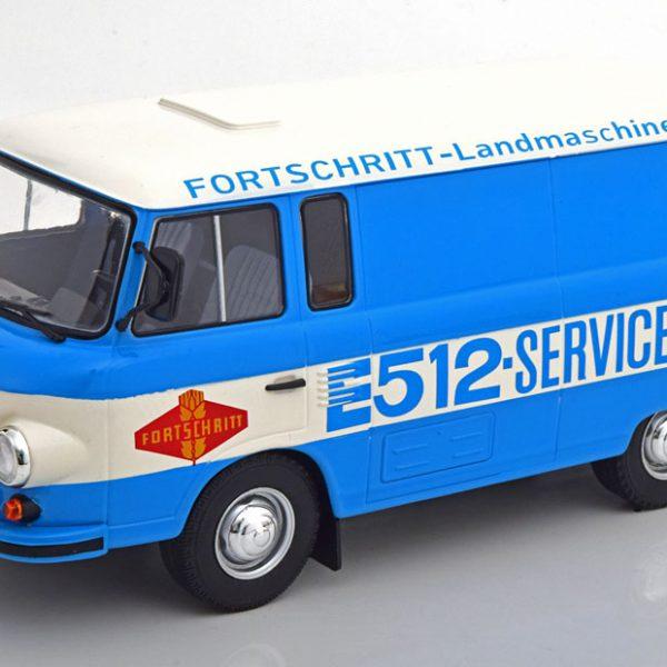 "Barkas B1000 ""Fortschritt Service"" Blauw / Wit 1-18 MCG Models"