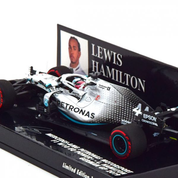 Mercedes AMG F1 W10 EQ Power+ GP Duitsland 2019 L.Hamilton Worldchampion 1-43 Minichamps Limited 1287 Pieces