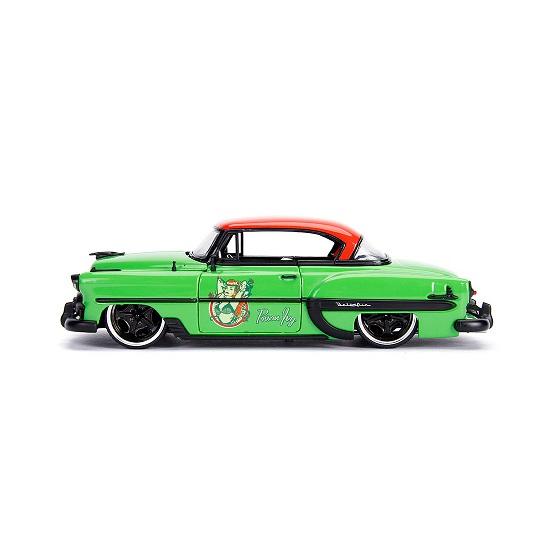 "Chevy Bel Air 1953 ""DC Bombshells"" Poison Ivy Groen / Rood 1:24 Jada Toys"