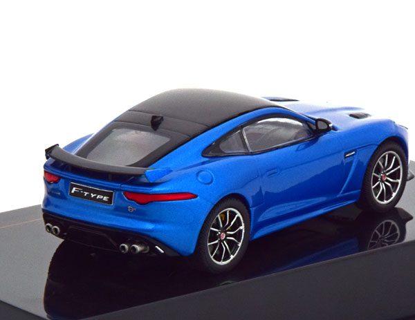 Jaguar F-Type SVR 2016 Blauw Metallic / Zwart 1-43 Ixo Models