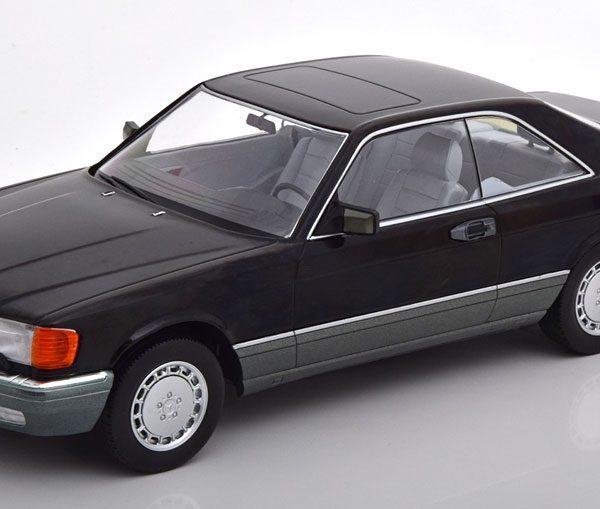 Mercedes-Benz 560 SEC ( C126 ) 1985 Zwart 1-18 KK Scale Limited 1000 Pieces