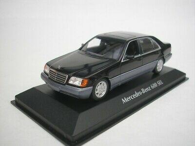 Mercedes-Benz 600 SEL ( W140 ) S-Klasse 1991 Zwart Metallic 1-43 Maxichamps