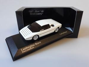 Lamborghini Bravo 1974 Wit 1-43 Minichamps Limited 4416 Pieces