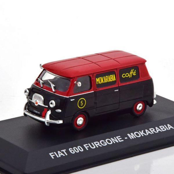 "Fiat 600 Furgone ""Mokarabia"" 1958 Zwart / Rood 1-43 Altaya"