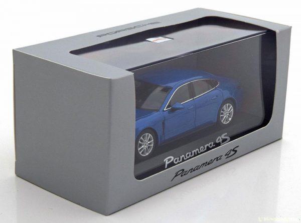 Porsche Panamera (G2) 4S 2016 Blauw Metallic 1-43 Herpa