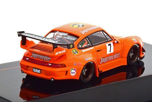 "Porsche 911 (993) RWB ""Rauh-Welt Jägermeister"" Oranje 1-43 Ixo Models"