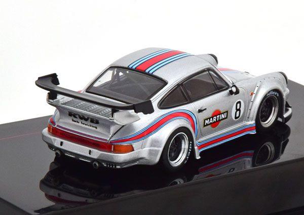 """Porsche 911 (930) RWB Nr# 8 """"Rauh-Welt Martini"""" Grijs 1-43 Ixo Models"""