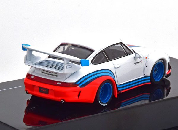 "Porsche 911 (993) RWB ""Rauh-Welt Martini"" 1-43 Wit Ixo Models"