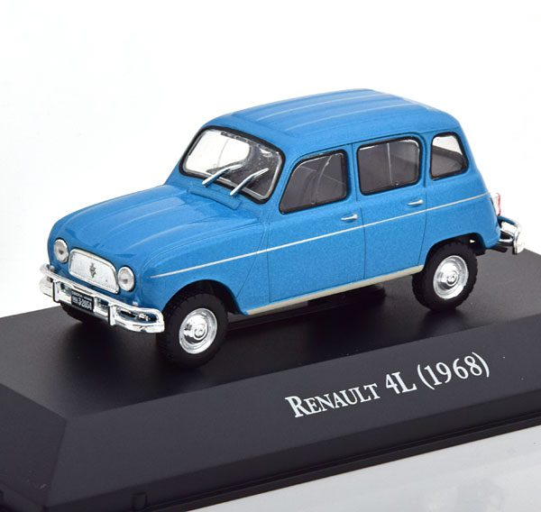 Renault 4L 1968 Blauw Metallic 1-43 Altaya