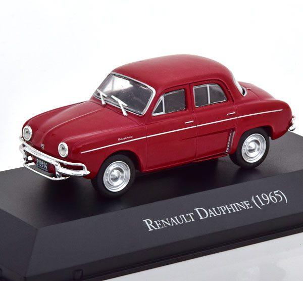 Renault Dauphine 1965 Donkerrood 1-43 Altaya