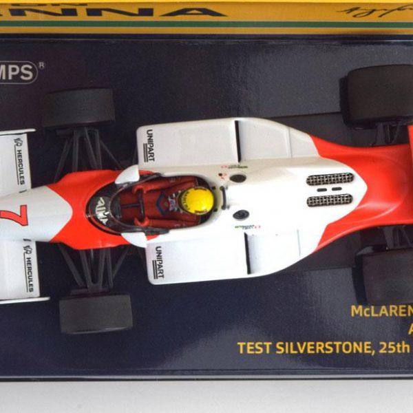 McLaren Ford MP4/1C #7 Test Silverstone 1983 Ayrton Senna 1-43 Minichamps