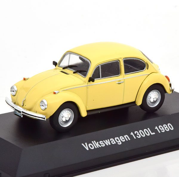 Volkswagen Kever 1300L 1980 Geel 1-43 Altaya