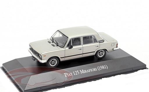 Fiat 125 Mirafiori 1981 Zilver 1-43 Altaya